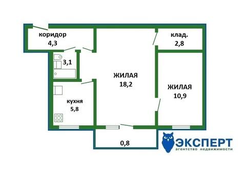 2 комнатная квартира в зеленом районе города недалеко от метро на ул. - Фото 2