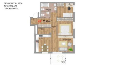 115 000 €, Продажа квартиры, Купить квартиру Рига, Латвия по недорогой цене, ID объекта - 313139232 - Фото 1