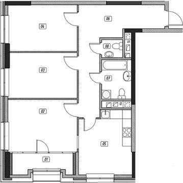 Продам 3 комн. квартиру, 85.21 кв.м. - Фото 1