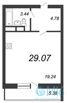 Продажа квартиры-студии, 29.07 м2 - Фото 3