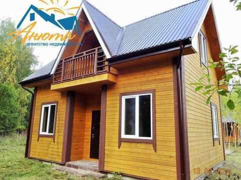 Продается двухэтажный новый дом вблизи деревни Сатино Боровского район - Фото 1