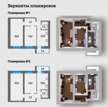 Двухкомнатная квартира в новом кирпичном доме! - Фото 2