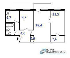 3 комнатная квартира на Карпинского - Фото 1