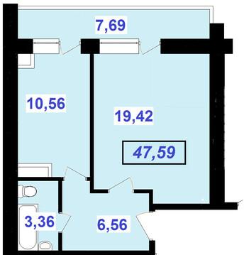 Большая однокомнатная квартира в новом доме! - Фото 3