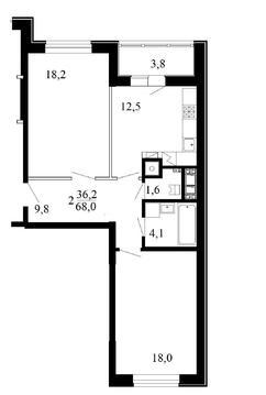 Двухкомнатная квартира от застройщика в новом доме! - Фото 3