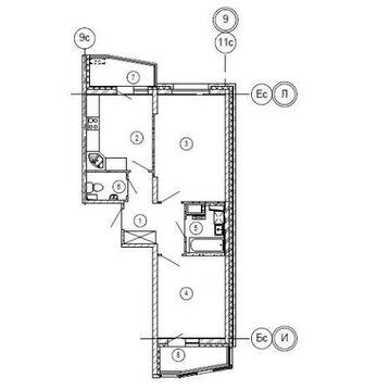 Двухкомнатная квартира с ремонтом в Изумрудных Холмах - Фото 1