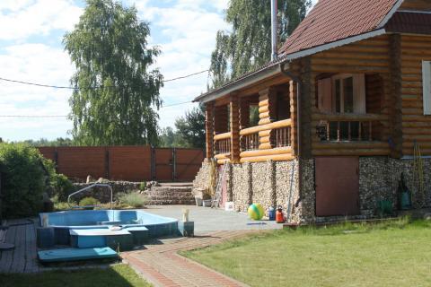 Готовый дом из бревна под ключ с бассейном в деревне Былово. - Фото 3
