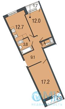 Продажа 2-комнатной квартиры в Приморском раойне, 56.2 м2 - Фото 1
