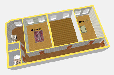 Продажа 2-х комнат в 3-х комнатной квартире на ул. Казанская - Фото 4