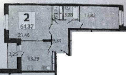 2-х комнатная квартира в Красногорском г/о, д. Путилково - Фото 2