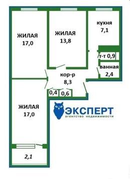 3 комнатная квартира в Зеленом луге с большими комнатами, Купить квартиру в Минске по недорогой цене, ID объекта - 324775287 - Фото 1