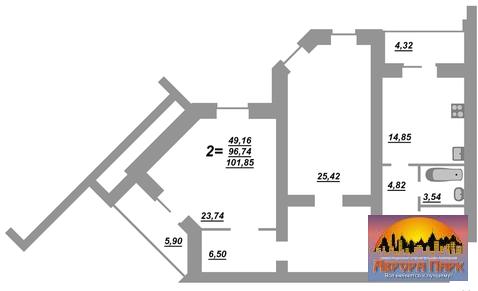 2-к. кв, новостройка, дом сдан, б-р Юности 41 - Фото 2