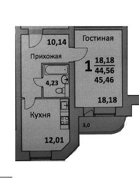 Однокомнатная квартира в Подольске, ул. Колхозная - Фото 3