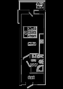 Квартира-студия 28,49 кв. м. в ЖК Никольский посад