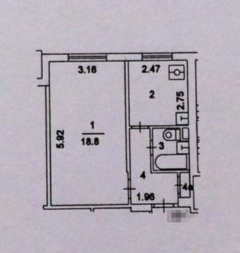 Продаётся однокомнатная квартира. - Фото 4