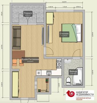Шикарные апартаменты 42,7 кв.м. с большой террасой в ЖК ФилиЧета - Фото 2
