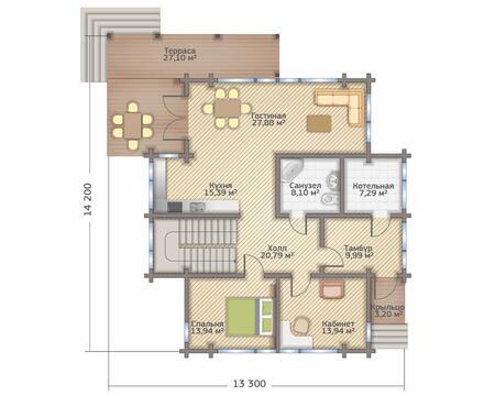2-х этажный дом, 265 кв.м. в коттеджном поселке комфорт класса - Фото 5