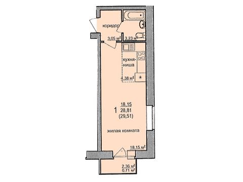 Продажа 1-комнатной квартиры, 29.51 м2, Советская, д. 47а, к. корпус А - Фото 2