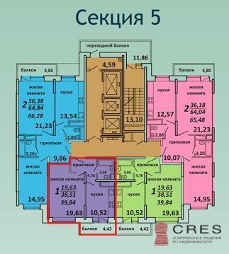 Продается 1 к.кв. г.Подольск, ул. Садовая д.3к1 - Фото 1