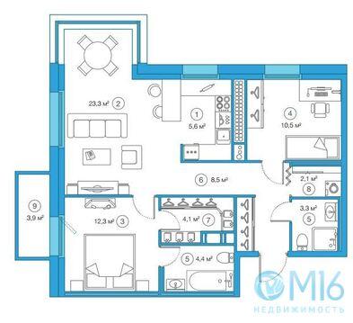 Продажа 2-комнатной квартиры, 74.41 м2 - Фото 2