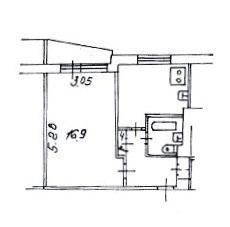 Продается свободная 1-комн.квартира с балконом в 7 минутах пешком - Фото 5