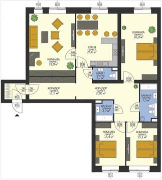 Четырехкомнатная квартира в доме повышенной комфортности - Фото 1