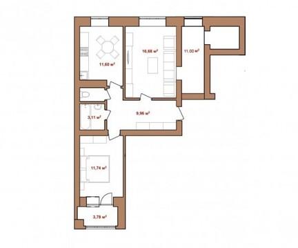 Двухкомнатная квартира в новом доме! - Фото 2