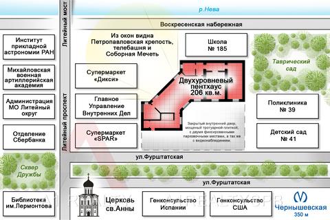 Пп трехуровневая квартира с террасой в самом центре Санкт-Петербурга - Фото 2