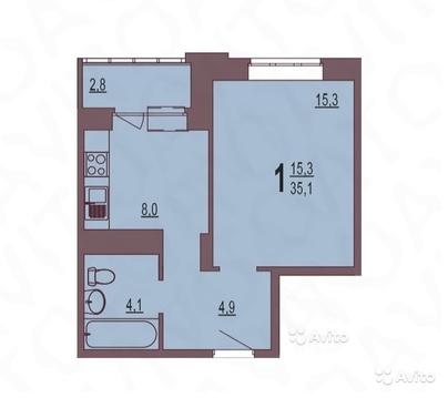 Продам однокомнатную квартиру в новом жилом комплексе! - Фото 4
