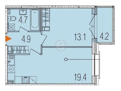 Продается квартира в новом доме
