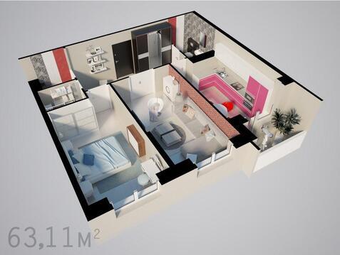 2х комнатная квртира в центре Наро-Фоминска - Фото 2