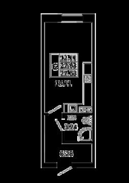 Квартира-студия 27,63 кв. м. в ЖК Никольский посад
