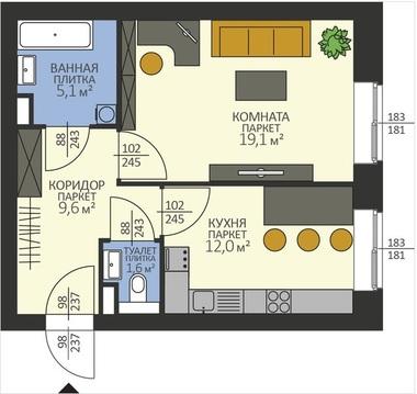 Однокомнатная квартира в в доме повышенной комфортности - Фото 1