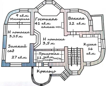 """Дом """"под ключ"""" с дивным садом, 500 кв.м, 12 сот, 7 км от МКАД - Фото 1"""
