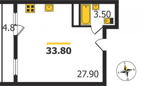 Жилой дом на Кулибина, Владимир, Кулибина ул, д.14, Квартира на . - Фото 1