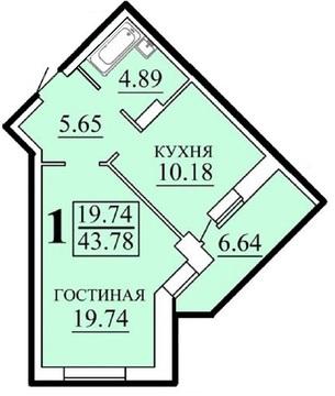Большая 1-к квартира в новом доме в Степной (Мертвый город) с ремонтом - Фото 2