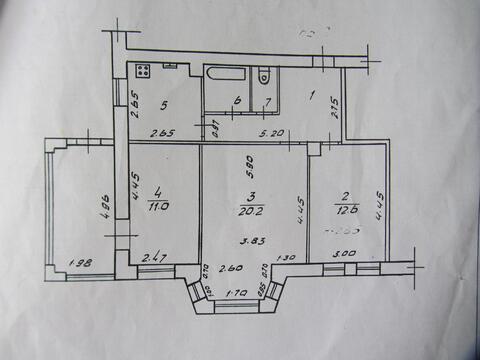 3-к квартира в центре, ул. Печатная, 10 - Фото 5