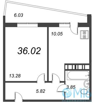 Продажа 1-комнатной квартиры, 36.02 м2 - Фото 2