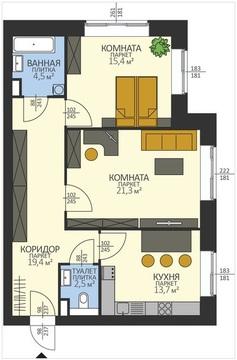 Двухкомнатная квартира в доме повышенной комфортности - Фото 1