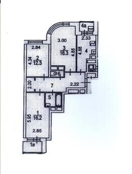 3-к квартира, 76 м2, 17/22 эт. - Фото 5