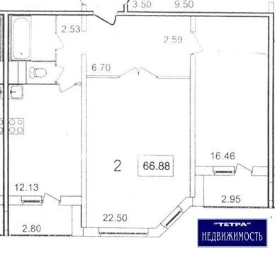 Просторная 2 комнатная квартира в Троицке, ул.Нагорная дом 9 - Фото 3