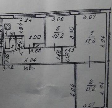 Объявление №41966117: Продаю 3 комн. квартиру. Санкт-Петербург, ул. Будапештская, 5, к.1,