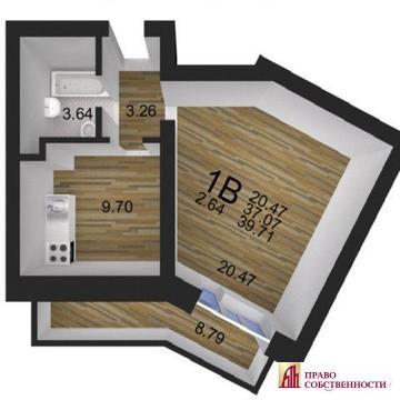 1-комнатная квартира 39 кв.м в новом доме, ул.Красноармейская, д. 25б - Фото 1