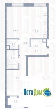 Продаётся 2-комнатная квартира по адресу Новоалексеевская 16стр7 - Фото 5