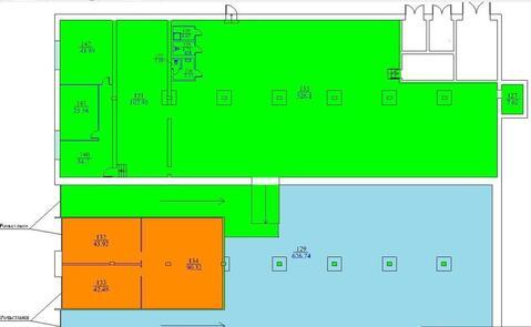 В аренду складское отапливаемое помещение 1380 кв.м. Улица Смольная,14 - Фото 1