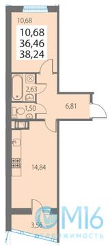 Продажа 1-комнатной квартиры, 38.24 м2 - Фото 2