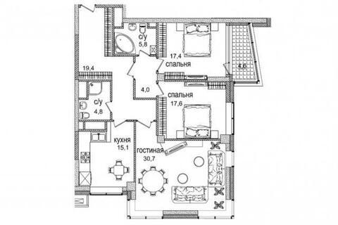 Продаётся видовая 3-х комнатная квартира в ЖК премиум класса. - Фото 4