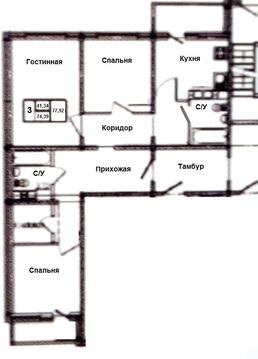 3-к квартиру на Малой земле в новом доме продам - Фото 2