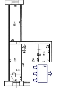 Уфа. Торговое помещение в аренду Халтурина 57. Площ.56 кв.м - Фото 3