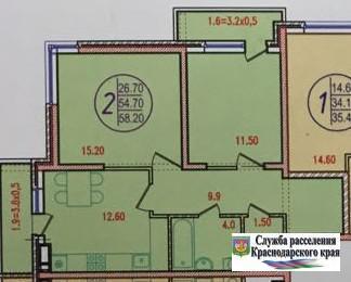 2-к квартира 60кв м - Фото 3